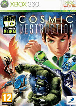 Ben 10 Ultimate Alien: Cosmic Destruction Xbox 360 Cover Art