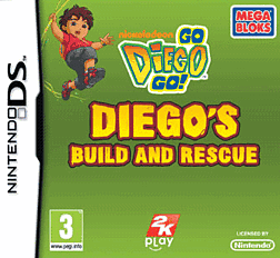Mega Bloks Diego's Build and Rescue DSi and DS Lite Cover Art