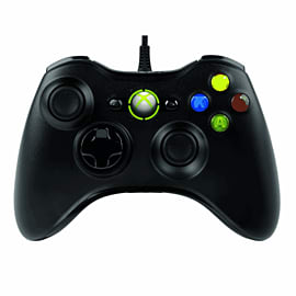 Xbox 360 Wired Controller - Black Accessories