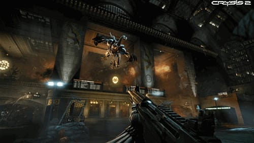 Crysis 2 on xbox 360, PS3 and PC at GAME