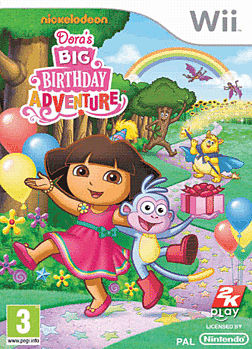 Dora's Big Birthday Adventure Wii Cover Art