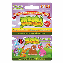 Moshi Monsters 6 Month Membership Card Accessories