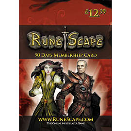 RuneScape 90 Day Membership Card Gifts