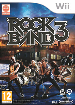 Rock Band Wireless Pro Keyboard with Rock Band 3 software Wii Cover Art