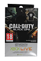 12 Month Xbox Live Gold Membership + Free Large Black Call of Duty T-Shirt Clothing and Merchandise
