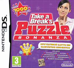 Take a Break's Puzzle Bonanza DSi and DS Lite Cover Art