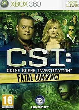 CSI: Fatal Conspiracy Xbox 360 Cover Art