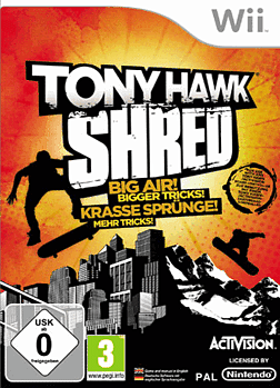 Tony Hawk Shred (solus) Wii Cover Art
