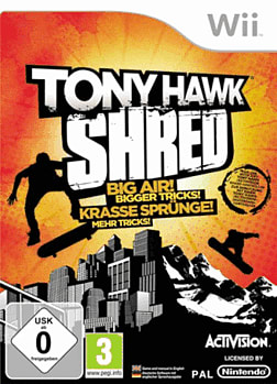Tony Hawk Shred (with board) Wii Cover Art
