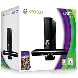 Xbox 360 4GB Console With Kinect & Kinect Adventures Xbox 360
