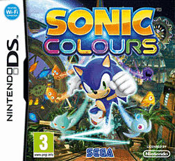 Sonic Colours DSi and DS Lite Cover Art