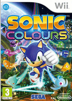 Sonic Colours Wii Cover Art