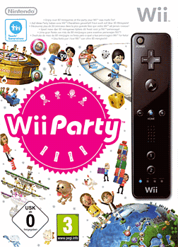Wii Party + Wii Remote Controller Black Wii Cover Art