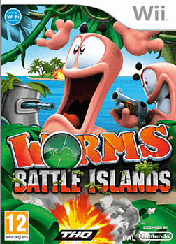 Worms Battle Island Wii Cover Art