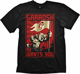 Medium World of Warcraft Garrosh T-Shirt Clothing and Merchandise