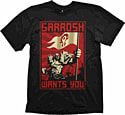 Extra Large World of Warcraft Garrosh T-Shirt Clothing