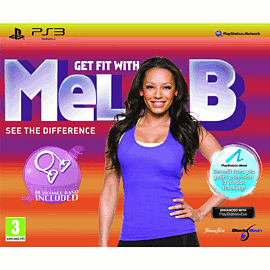 Get Fit with Mel B (PS3 Move) + Resistance band PlayStation-3 Cover Art