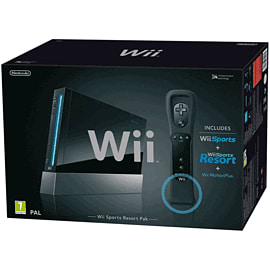 Black Wii Console with Wii Remote Plus Wii 
