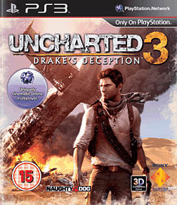 Uncharted 3: Drake's Deception PlayStation 3 Cover Art