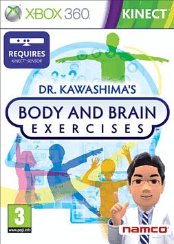Dr Kawashima Exercise (Kinect compatible) Xbox 360 Kinect Cover Art