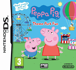 Peppa Pig Theme Park Fun DSi and DS Lite Cover Art
