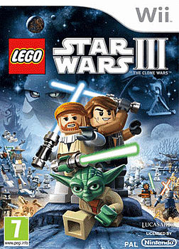 Lego Star Wars 3: The Clone Wars Wii Cover Art