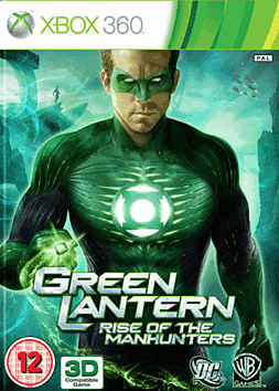 Green Lantern: Rise of the Manhunters Xbox 360 Cover Art