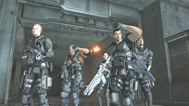 Team based shooter Binary Domain on Xbox 360 and PS3