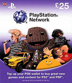 PlayStation Network Card - £25 Accessories