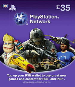 PlayStation Network Card - 35 Accessories 