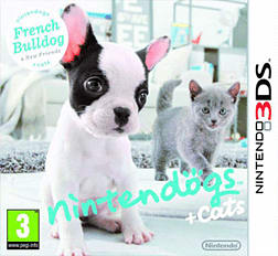 Nintendogs and Cats Bulldog 3DS Cover Art