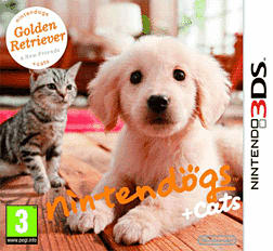 Nintendogs and Cats Golden Retriever and New Friends 3DS Cover Art