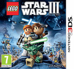Lego Star Wars III: The Clone Wars 3DS Cover Art