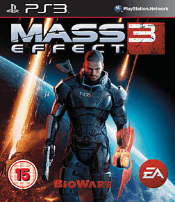 Mass Effect 3 PlayStation 3 Cover Art