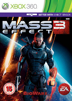 Mass Effect 3 Xbox 360 Cover Art