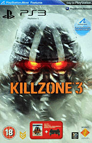 Killzone 3 and Dualshock Controller Playstation-3 Cover Art