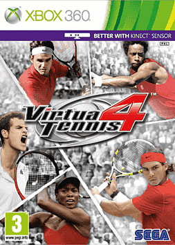 Virtua Tennis 4 (Kinect compatible) Xbox 360 Cover Art