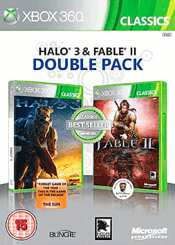 Fable II and Halo 3 double pack Xbox 360 Cover Art