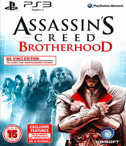 Assassin's Creed Brotherhood: Da Vinci Edition PlayStation 3 Cover Art