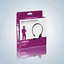 GAMEware Xbox 360 Headset - Black Accessories 