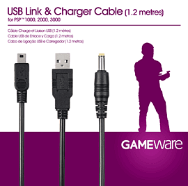 GAMEware PSP USB Link & Charger Cable Accessories 