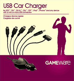GAMEware USB Car Charger Accessories