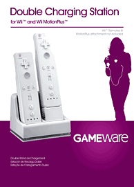 GAMEware White Double Charging Station for Wii Accessories 