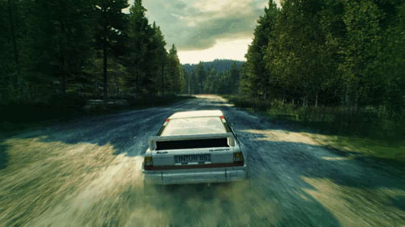 DiRT 3 Rally driving on Xbox 360 and PlayStation 3