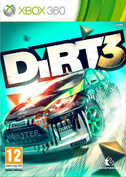 DIRT 3 xbox 360 Cover Art