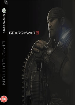 Gears Of War 3 Epic Edition (with Exclusive Preorder BONUS In-Game Downloadable Character) Xbox 360 Cover Art