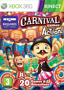 Carnival Games: In Action Xbox 360 Kinect Cover Art