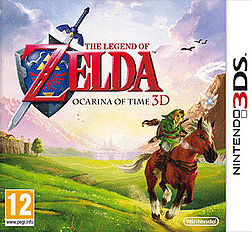 The Legend of Zelda: The Ocarina of Time 3D 3DS Cover Art