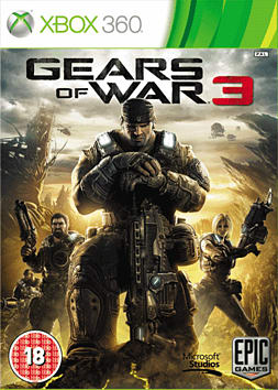 Gears of War 3 Xbox 360 Cover Art