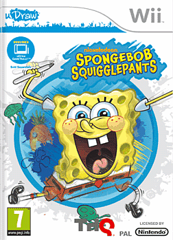 SpongeBob SquigglePants - uDraw Wii Cover Art